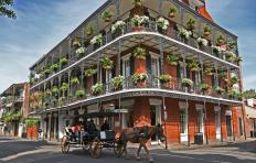A building in the French Quarter of New Orleans.
