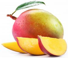 Mango can be used in a tropical punch bowl cake.