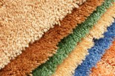 Frieze carpeting, a type of cut pile carpet.