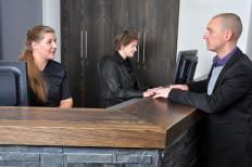 A front desk supervisor must be able to interact well with guests.