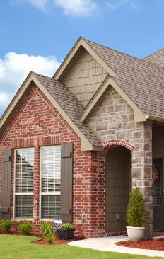 Many newer homes are covered with brick and stone veneers.