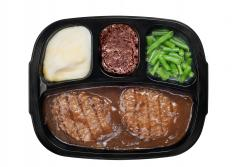 Blast freezers are used by the food industry to initially freeze microwavable TV dinners.
