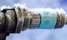 Frozen pipes might need to be fixed before an outdoor faucet will work.