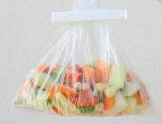 A frozen food knife may be required to work with packages of frozen vegetables.