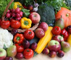 Fruits and vegetables are a good source of natural fiber.