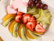 Starfruit may be featured in a tropical fruit salad.