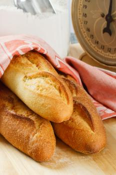 Baguettes, which can be sliced and added to a cheese and cracker platter.