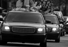 The funeral procession is a common tradition included in funeral arrangements.