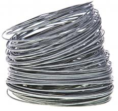 Crimped mesh is commonly made from rolls of galvanized steel wire.