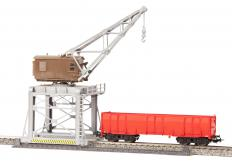 A gantry crane is stationary, so anything to be lifted must be brought to it.