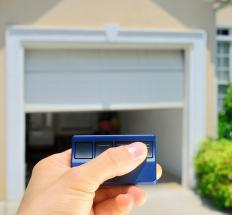 A motion sensor is commonly used for garage door openers.