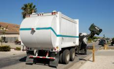 Garbage truck lifts are often powered by hydraulic oil.