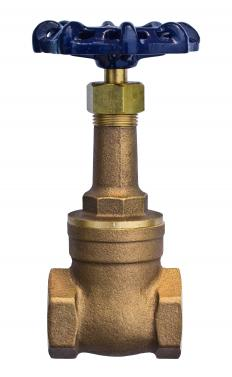A gate valve can stop, or block, the flow of a fluid.