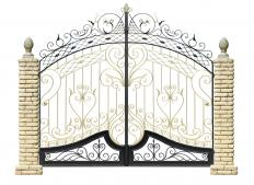 Most antique gates are made of ornamented wrought iron.