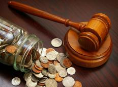A person's bail amount is set by the court.