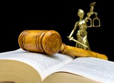A defense trial lawyer represents the defendant in a court case.