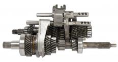 A transmission without the housing.