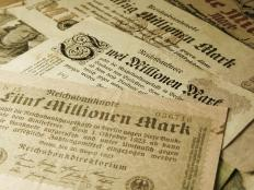 During the interwar years in Germany, the government simply printed more and more banknotes to pay its bills, leading to hyperinflation.