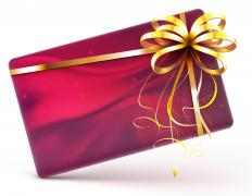 A gift card can be inserted into a Christmas card as a holiday bonus.