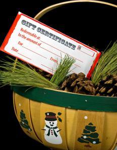 Gift certificates are an option for a boss or co-workers.