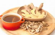 Castor oil can be combined with ginger tea for added benefits.