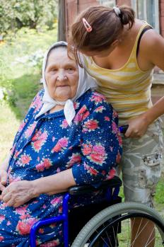 Elderly guardianship might be granted when an older person cannot manage on her own.