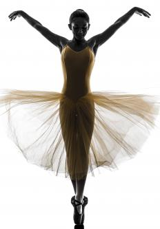 En pointe dancing is typically done by women because of their lighter weight and traditional roles in romantic ballet.