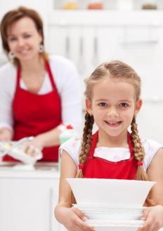 Children who help around the house may earn a weekly allowance.