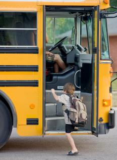 To prepare for a new school, make sure your child knows what time the bus will pick them up in the morning.