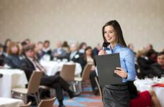 Conference coordinators work on all aspects of a meeting to ensure its success.