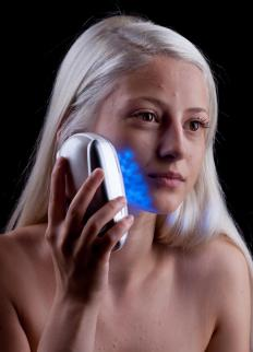 Blue light therapy can help clear up acne.