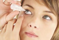 Artificial tears can help treat dry eyes.