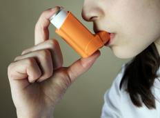 Albuterol can be delivered through an inhaler to treat asthma.