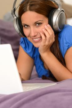 Listening to music may help promote relaxation.