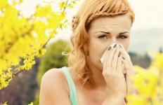 Seasonal allergies may cause a swollen nostril.