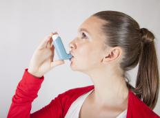 Asthma and other breathing conditions can cause the nails to turn blue.