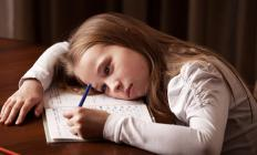 Children may be physically fatigued during a growth spurt.