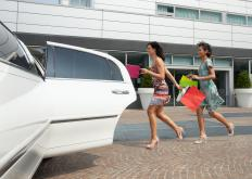 A limousine service might transport shoppers to upscale malls.