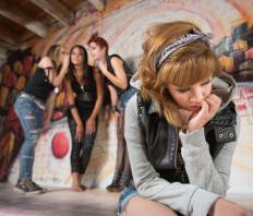 A teenager that feels isolated may have poor self-esteem and want to define herself as an outcast.