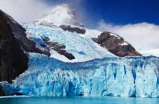 Scientists use glaciers as a way to point at past natural climate change.