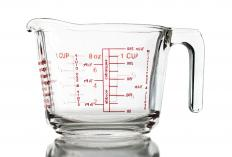 A fluid ounce can be measured by using a glass measuring cup.