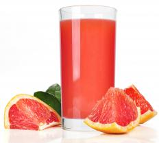 The Texas grapefruit has a ruby red color.