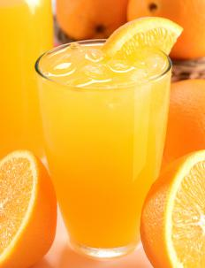 Orange juice is added to mangel-wurzel to make a refreshing tonic.
