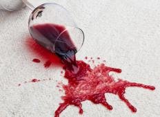 A bright carpet stain might require a professional cleaning service.