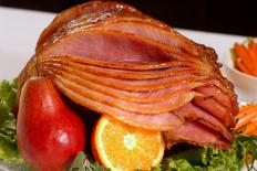 Spiral hams are pre-cut to simplify the cooking and serving process.