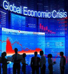An economic collapse can be a national or global crisis.