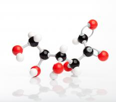 Glucose molecules break down into carbon dioxide and water during oxidation.