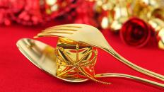 Modern gold electroplating processes have made gold cutlery very affordable.