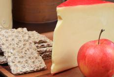 Cheese and crackers are a popular appetizer.