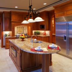 Granite is a common, more porous material for countertops.